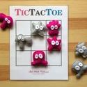 """'Tic Tac Toe' amőba társasjáték 3x3-as játékmezővel, vicces filc szörnyecske játékfigurákkal, Játék, Készségfejlesztő játék, Társasjáték, Fotó, grafika, rajz, illusztráció, Varrás, A régről ismert """"Amőba"""" (angolul Tic Tac Toe) társasjáték 2 játékos számára.  A játékfigurák minősé..., Meska"""