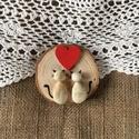 Szerelmes Cicák, Szerelmeseknek, Egyedi ajándék Valentin napra, ez a kavics és a fa összefonódásából készült természetes k..., Meska