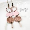 Hókirálynő - rózsaszín tűzzománc fülbevaló, Elegáns, nőies, könnyű viselet. A fülbevaló ...