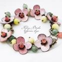 Róza - Virágos tűzzománc karkötő, Sok-sok gyönyörű zománcozott virág és apró ...