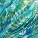 Erdei barangolás, Ruha, divat, cipő, Kendő, sál, sapka, kesztyű, Sál, Kézzel festett selyemsál  Ezt a pasztell árnyalatú, harmonikus selyemsálat a kedvenc technikám..., Meska