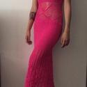 Horgolt pink ruha, Ruha, divat, cipő, Női ruha, Estélyi ruha, Ruha, Horgolás, AZONNAL VIHETŐ! Nagyon vidám pink színű ruha, akár alkalmi ruhának is megfelel. Mint minden munkám,..., Meska