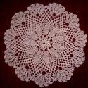 Horgolt terítő, Dekoráció, Dísz, Rózsaszín horgolt terítő. Horgolócérnából készült. Mérete: 34 cm. , Meska