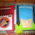 Interaktív foglalkoztató, készségfejlesztő textilkönyv lányoknak, Baba-mama-gyerek, Játék, Készségfejlesztő játék, Logikai játék, Varrás,    A képen látható textilkönyv kislányoknak készült.A nyitóoldal névvel kérhető.     Az első 2 olda..., Meska