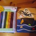 Interaktív , foglalkoztató,készségfejlesztő textilkönyv kisfiúknak. , Baba-mama-gyerek, Játék, Készségfejlesztő játék, Logikai játék, Varrás,     A képen látható textilkönyv legénykéknek készült. A borítólapra név és figura is kérhető.      ..., Meska