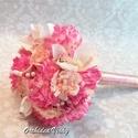 Vintage menyasszonyi csokor,örök csokor,különleges és romantikus esküvőre., Dekoráció, Esküvő, Esküvői csokor, Ünnepi dekoráció, Csokor, Virágkötés, Örökké tartó csokrok  Gyönyörű vintage menyasszonyi csokor,csipkével,szaténnal,muszlinnal,virágokka..., Meska