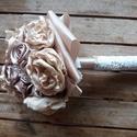 Selyemszatén gömbcsokor,örök csokor,menyasszonyi csokor., Dekoráció, Esküvő, Esküvői csokor, Csokor, Virágkötés, Örökké tartó csokrok   Igazán romantikus, vintage stílusú csokrot készítettem el Neked a nagy napra..., Meska