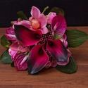 Vintage menyasszonyi csokor ,örök esküvői csokor,különleges és romantikus esküvőre., Dekoráció, Esküvő, Esküvői csokor, Csokor, Virágkötés, Örökké tartó csokrok  Gyönyörű vintage menyasszonyi csokor,selyem és polifoam tartós virágból.Szárá..., Meska