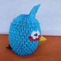 Angry Birds /kék/, Játék, Mindenmás, Játékfigura, Papírművészet, Mérges madár A termék origami papírhajtogatási technikával készült. 6x3,5 cm-es kis téglalapokból h..., Meska