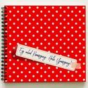 Lánybúcsú ajándék piros pöttyös emlékkönyv - Romantikus egyedi album - emlék a menyasszonynak - füzet / napló - 21x19cm, KÉRHETED saját szöveggel is! Lánybúcsúra, es...