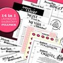 Lánybúcsú emlékkönyv FULLPACK - Prémium egyedi ajándék album - emlék a menyasszonynak - füzet / napló - 21x19cm, Naptár, képeslap, album, Esküvő, Fotóalbum, Jegyzetfüzet, napló, Fotó, grafika, rajz, illusztráció, Könyvkötés, 14 funkció 1 könyvben -  Lánybúcsús EMLÉKKÖNYV: ajándék, meglepetés, játékok, feladatok, fogadalom,..., Meska