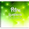 Lánybúcsú ajándék emlékkönyv ZÖLD - 3 design VÁLASSZ - egyedi album - emlék a menyasszonynak - füzet / napló - 21x19cm, Otthon & lakás, Esküvő, Naptár, képeslap, album, Fotóalbum, Jegyzetfüzet, napló, SAJÁT Szöveggel kérheted! Névvel és dátummal! ZÖLD emlékkönyv Lánybúcsúra, esküvőre, eljegyzésre, lá..., Meska