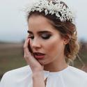 Menyasszonyi szárazvirág fejdísz, FONTOS! Szeptemberi esküvőkre tudunk már csak r...