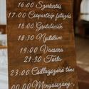 Esküvői programtábla, FONTOS! Szeptemberi esküvőkre tudunk már csak r...