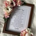 Anyák napi köszöntő, szülőköszöntő, FONTOS! Augusztusi esküvőkre tudunk már csak re...