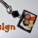 22.Sushi gyurma kulcstartó 1 db, Kulcstartó,  Ezt a sütit süthető gyurmából készítettem. Azt kapod,amit a képen látsz!   Mérete 1 cm. A..., Meska
