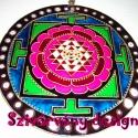 """91. Shri Yantra mandala / Vaszati/ , Dekoráció, Képzőművészet, Festmény, Festészet, Festett tárgyak, \""""Shree Yantra\"""" jelentése- Shree azaz a jólét és Yantra - \""""eszköz\"""" - a Gazdagság eszköze. A Shri..., Meska"""