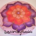 12. Békehozó  mandala  - selyem mandala, Képzőművészet, Festmény, Festészet, Selyemfestés, Ez a mandala hozzásegít minket belső békénk, és örömünk megtalálásában. Segít,hogy ráleljünk,és vis..., Meska