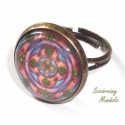 Pénzhozó-Antikolt Bronz Mandala gyűrű, Ékszer, óra, Gyűrű, Jelentése: Pénz vonzó hatása van ennek a mandalának! A 8 lóhere a 4 égtáj felé fordul,hogy mindenhon..., Meska