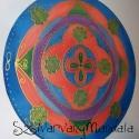 Pénzhozó  mandala  - selyem mandala, Képzőművészet, Festmény, Festészet, Selyemfestés, Pénz vonzó hatása van ennek a mandalának! A mandalát 13 swarovski kristály díszíti, ezzel segítve a..., Meska