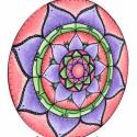 1/8. Energia Mandala, Dekoráció, Képzőművészet, Festmény, Festészet, Festett tárgyak, Jelentése: Színei segítenek az intuíció erősítésében, valamint az életben való szerencse bevonzásáb..., Meska