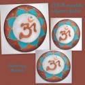 3/1. OHM - Mandala - selyem mandala, Képzőművészet, Festmény, Festészet, Selyemfestés, Jelentése: Védelmet ad a negatív hatások ellen, Segíti a lélek harmóniájának megtartását, Védelmező..., Meska