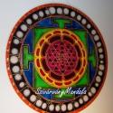 """91. Shri Yantra mandala / Vaszati/ - 40 cm-es , Dekoráció, Képzőművészet, Festmény, Festészet, Festett tárgyak, """"Shree Yantra"""" jelentése- Shree azaz a jólét és Yantra - """"eszköz"""" - a Gazdagság eszköze. A Shri Yan..., Meska"""