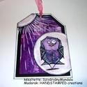 Ajándék kísérő kártya  - Őrült Madarak - 16., Otthon, lakberendezés, Dekoráció, Falikép, Kép, Festészet, Mindenmás, Ezt az ajándék kísérő kártyát  kézzel készítettem:)  Több féle technikával....  Méretei: 13x 9,8 cm..., Meska