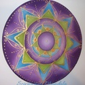 A Kreatív Energia mandalája - selyem mandala, Képzőművészet, Festmény, Festészet, Selyemfestés, Jelentése: Elsősorban energikus, intuitív gondolatokat serkenti! A kreativitást, tettrekészséget éb..., Meska