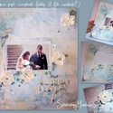 27. - scrapbook , falikép, Papírkép, - Esküvős -, Otthon, lakberendezés, Dekoráció, Falikép, Kép, Festészet, Mindenmás, Ezt a papír alapú faliképet úgy készítettem,  hogy neked már csak a faladra kell kitenned  Lakás-de..., Meska