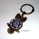 7. Korona csakra mandala - Bronzz kulcstartó, Bagoly, Ékszer, óra, Nyaklánc, Ez a mandala segíti a megérzéseket, az ötletek meghallását, a tanulást . Ez a csakra a spiritualitás..., Meska