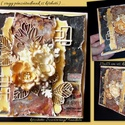 """Képeslap - Pénzátadó -  Őszi"""" - barna- 4., Naptár, képeslap, album, Képeslap, levélpapír, Ezt a  képeslap 3D-s hatású!!  Elegáns megjelenésével hűen tükrözi az épp aktuális ünnep..., Meska"""