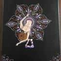Balerina, Otthon & lakás, Képzőművészet, Festmény, Akril, Festmény vegyes technika, Feszített vászonra, pontozó technikával készült akril festmény.    Keretezést nem igényel, képakaszt..., Meska