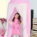 Rózsaszín pöttyös sátor, Baba-mama-gyerek, Dekoráció, Otthon, lakberendezés, , Meska