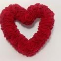 Valentin Napi Szív Koszorú Filcből, Dekoráció, Szerelmeseknek, Dísz, Ez a szív koszorú különleges és egyedi ajándék lehet párodnak valentin napra.  Több száz f..., Meska