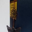 Könyvjelző romantikus könyvek kedvelőjének, Dekoráció, Ünnepi dekoráció, Karácsonyi, adventi apróságok, Ajándékkísérő, képeslap, Ékszerkészítés, Romantikus lelkeknek romantikus könyv mellé!  A könyvjelző bronz alkatrészekből készült. , Meska