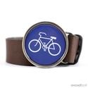 Bicikliút övcsat (kék, kerek), Ruha, divat, cipő, Férfiaknak, Öv, Ékszerkészítés, Mindenmás, Ha SÜRGŐS, kérdezz vásárlás előtt, lehet, hogy van belőle kész darabom is. ________________________..., Meska