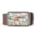 Budapest övcsat (zöld), Ruha, divat, cipő, Férfiaknak, Öv, Öv, övcsat, Ékszerkészítés, Mindenmás, Ha SÜRGŐS, kérdezz vásárlás előtt, lehet, hogy van belőle kész darabom is. ________________________..., Meska