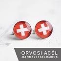 Svájci zászló nemesacél mandzsettagombok, Férfiaknak, Vőlegényes, Mandzsettagomb, Hagyományőrző ajándékok, Ha SÜRGŐS, kérdezz vásárlás előtt, lehet, hogy van belőle kész darabom is. _________________________..., Meska