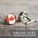 Kanadai zászló nemesacél mandzsettagombok, Férfiaknak, Vőlegényes, Mandzsettagomb, Hagyományőrző ajándékok, Ha SÜRGŐS, kérdezz vásárlás előtt, lehet, hogy van belőle kész darabom is. _________________________..., Meska