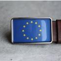 EU zászló övcsat, Ruha, divat, cipő, Férfiaknak, Öv, Ha SÜRGŐS, kérdezz vásárlás előtt, lehet, hogy van belőle kész darabom is. _________________________..., Meska