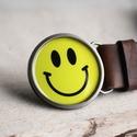 Smiley kerek övcsat, Táska, Divat & Szépség, Férfiaknak, Öv, övcsat, Öv, Ruha, divat, Ha SÜRGŐS, kérdezz vásárlás előtt, lehet, hogy van belőle kész darabom is. _________________________..., Meska