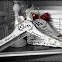 Vállfa esküvőre, Esküvő, Esküvői dekoráció, Decoupage, szalvétatechnika, Festett tárgyak, Ha az esküvőtök minden részletébe az egyediséget szeretnétek belevinni, ha kedvelitek a romantikus,..., Meska