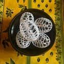 Hófehér horgolt tojások, 5db, Húsvéti díszek, Dekoráció, Ünnepi dekoráció, Horgolás, Fehér horgoló fonalból készítettem a tojásokat, majd keményítettem. A tojások teljesen üregesek. Aj..., Meska
