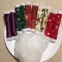 Csináld magad, Textilszaloncukor, Dekoráció, Ünnepi dekoráció, Karácsonyi, adventi apróságok, Ajándékkísérő, képeslap, Karácsonyfadísz, Karácsonyi dekoráció, Varrás, Kedves Anyukák!  itt a karácsonyi készülődés időszaka. Szeretnél gyermekeiddel közösen készülődni, ..., Meska