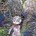 Falikép textilszobrászattal, Dekoráció, Esküvő, Képzőművészet, Otthon, lakberendezés, Mindenmás, Ezt a faliképemet 50x70cm-es feszített vászon alapra készítettem. A 3D-s hatást textilszobrászattal..., Meska