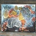 Varázshegy, Dekoráció, Esküvő, Képzőművészet, Otthon, lakberendezés, Mindenmás, Festészet, Ezt a faliképemet  40x50cm-es feszített vászon alapra készítettem. Alkotásaim textilszobrászattal k..., Meska