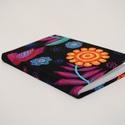 Textillel bevont mini határidőnapló, Naptár, képeslap, album, Naptár, Textillel bevont határidőnapló, mérete: 8,5*12 cm , Meska