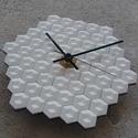 """""""Mozaik"""" kollekció - Falióra, Otthon, lakberendezés, Falióra, óra, """"Mozaik"""" kollekció – geometria és színek:  Színes beton falióra egyedi, geometrikus forma..., Meska"""