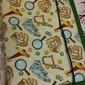 Pelenkatáska, Baba-mama-gyerek, Varrás, Egykezes pelenkatartó. 38*27 cm-es, belül két 17*27 cm-es rekesszel, középen 7*14 cm-es tubustartóv..., Meska